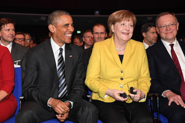 Stephan Weil Obama Attends Hanover Trade Fair Opening Evening