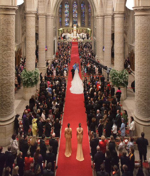 The Wedding Of Prince Guillaume Of Luxembourg & Stephanie de Lannoy - Official Ceremony [red,crowd,red carpet,aisle,fashion,event,tree,tradition,carpet,architecture,guillaume of luxembourg stephanie de lannoy - official ceremony,stephanie de lannoy,jehan de lannoy,prince,belgian countess,sales,handout image,archive,luxembourg,wedding]