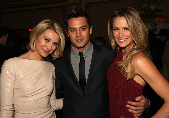 Stephen Colletti Actors  Stephen Colletti (C) and Shantel VanSanten (R) attend the 'One Tree Hill' Final Season cocktail reception during the CW portion of the 2012 Television Critics Association Press Tour at The Langham Huntington Hotel and Spa on January 12, 2012 in Pasadena, California.