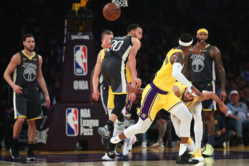 Stephen Curry Javale Mcgee Golden State Warriors v Los Angeles Lakers