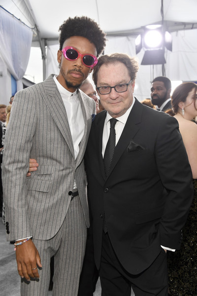 26th Annual Screen Actors Guild Awards - Red Carpet [red carpet,suit,eyewear,event,fashion,white-collar worker,formal wear,tuxedo,vision care,sunglasses,glasses,stephen root,darrell britt-gibson,screen actors guild awards,l-r,california,los angeles,the shrine auditorium,screen actors\u00e2 guild awards,stephen root,henry winkler,darrell britt-gibson,screen actors guild awards,photograph,celebrity,sag-aftra,image,red carpet]