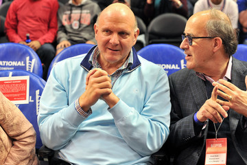Steve Ballmer Celebrities Attend the Los Angeles Clippers Game