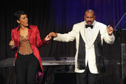Journalist Robin Roberts and host Steve Harvey dance during the New York Gala benefiting The Steve Harvey Foundation at Cipriani, Wall Street on May 3, 2010 in New York City.