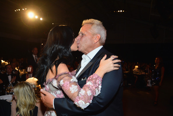 Steve Tisch Singer Katy Perry and New York Giants Chairman/Executive VP Steve Tisch attend amfAR's Inspiration Gala at Milk Studios on October 11, 2012 in Los Angeles, California.