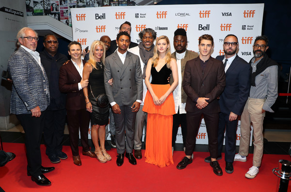 2019 Toronto International Film Festival - 'The Obituary Of Tunde Johnson' Photo Call [the obituary of tunde johnson,red carpet,event,carpet,premiere,flooring,crew,cast,tiff bell lightbox,toronto,canada,toronto international film festival,photo call]