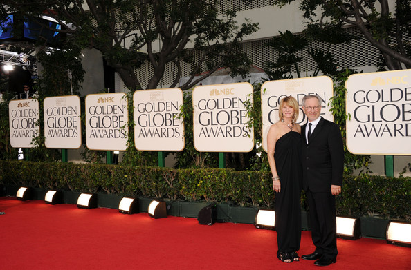 Steven Spielberg Actress Kate Capshaw (L) and producer Steven Spielberg arrive at the 68th Annual Golden Globe Awards held at The Beverly Hilton hotel on January 16, 2011 in Beverly Hills, California.