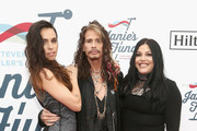 Chelsea Tyler, Steven Tyler and Mia Tyler attend Steven Tyler?s Second Annual GRAMMY Awards Viewing Party to benefit Janie?s Fund presented by Live Nation at Raleigh Studios on February 10, 2019 in Los Angeles, California.