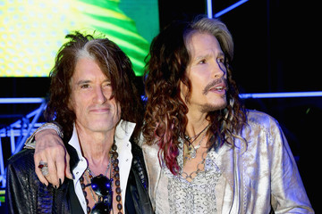 Steven Tyler Joe Perry Front Row at Roberto Cavalli
