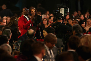 Steven Tyler Randy Jackson Backstage at the 18th Annual Hollywood Film Awards