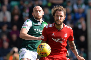 Stevie May Hibernian v Aberdeen - Scottish Premier League