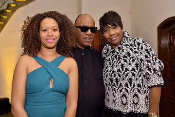 Stevie Wonder The Dinner For Equality Co-Hosted By Patricia Arquette And Marc Benioff