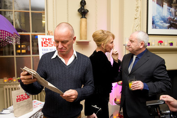 John Bird Sting And Trudie Styler Host 'The Bag Issue' Launch