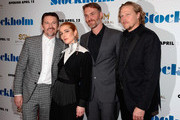 """(L-R) Ethan Hawke, Noomi Rapace, Robert Budreau and Ian Matthews attend the """"Stockholm"""" New York Premiere at Museum of Modern Art on April 11, 2019 in New York City."""