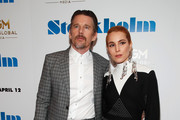 """(L-R) Actors Ethan Hawke and Noomi Rapace attend the """"Stockholm"""" New York Premiere at Museum of Modern Art on April 11, 2019 in New York City."""