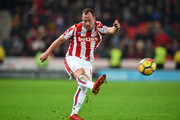 Charlie Adam of Stoke City during the Premier League match between Stoke City and West Ham United at Bet365 Stadium on December 16, 2017 in Stoke on Trent, England.