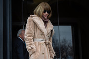 Anna Wintour editor-in-chief of Vogue attends the Carolina Herrera fall 2019 runway show during (NYFW) New York Fashion Week held at New York Historical Society 170 Central Park West on February 11, 2019 in New York City.
