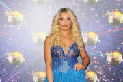 "Saffron Barker attends the ""Strictly Come Dancing"" launch show red carpet at Television Centre on August 26, 2019 in London, England."