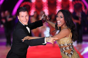 Alexandra Burke (R) and Gorka Marquez attend the 'Strictly Come Dancing' Live! photocall at Arena Birmingham, on January 18, 2018 in Birmingham, England. Ahead of the opening on 19th January 2018. The live show will be touring the United Kingdom until 11th February 2018.