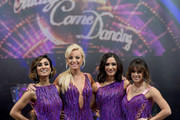 (L-R) Anita Rani, Helen George, Frankie Bridge and Georgia May Foote pose during a photocall for the Strictly Come Dancing Live Tour 2016 at Barclaycard Arena on January 21, 2016 in Birmingham, England.
