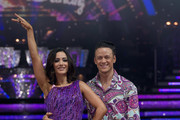 BIRMINGHAM, ENGLand - JANUARY 21:  Frankie Bridge and Kevin Clifton. pose during Photocall for the Strictly Come Dancing Live Tour 2016 at Barclaycard Arena on January 21, 2016 in Birmingham, England.