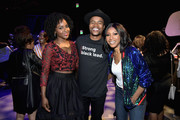 (L-R) Antoinette Robertson, Marque Richardson and Gabrielle Dennis attend Strong Black Lead party during Netflix FYSEE at Raleigh Studios on June 12, 2018 in Los Angeles, California.