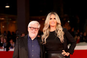 Tiziana Rocca and Claudio Masenza walk a red carpet for 'Stronger' during the 12th Rome Film Fest at Auditorium Parco Della Musica on October 28, 2017 in Rome, Italy.