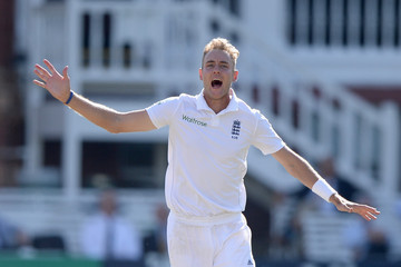 Stuart Broad England v India: 2nd Investec Test - Day Three