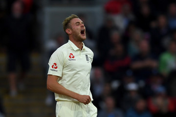 Stuart Broad England v West Indies - 1st Investec Test: Day Two