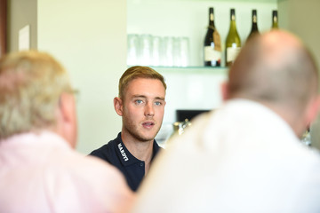 Stuart Broad Athletes Attend the England Cricket Media Access Day in London