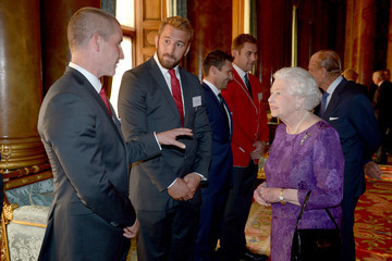 Stuart Lancaster The Queen Hosts Reception to Mark the Rugby World Cup 2015