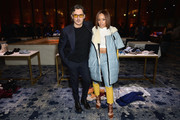 Stuart Weitzman Creative Director Giovanni Morelli (L) and Serayah McNeill attend the Stuart Weitzman FW18 Presentation and Cocktail Party at The Pool on February 8, 2018 in New York City.