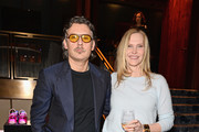 Stuart Weitzman Creative Director Giovanni Morelli (L) and Stuart Weitzman Chief Marketing Officer Susan Duffy attend the Stuart Weitzman FW18 Presentation and Cocktail Party at The Pool on February 8, 2018 in New York City.