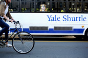 A shuttle drives students around the campus of Yale University on the day the U.S. Senate Judiciary Committee was holding hearings for testimony from Supreme Court nominee Brett Kavanaugh and Dr. Christine Blasey Ford on September 27, 2018 in New Haven, Connecticut. Blasey Ford, a professor at Palo Alto University and a research psychologist at the Stanford University School of Medicine, has accused Kavanaugh of sexually assaulting her during a party in 1982 when they were high school students in suburban Maryland.