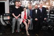 Dennis Mojen, Martin Schreier,  Emilia Schuele, Sebastian Fruner, Tom Zickler and Christoph Fisser attend the Studio Babelsberg Night X Canada Goose on the occasion of the 68th Berlinale International Film Festival at Soho House on February 16, 2018 in Berlin, Germany.