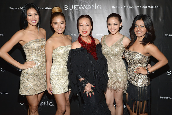 Sue Wong Fall 2013 Great Gatsby Collection Unveiling And Birthday Celebration [dress,shoulder,clothing,cocktail dress,lady,fashion,beauty,event,joint,premiere,sue wong,members,c,los angeles,california,group,blush,birthday celebration,sue wong fall 2013 great gatsby collection unveiling]