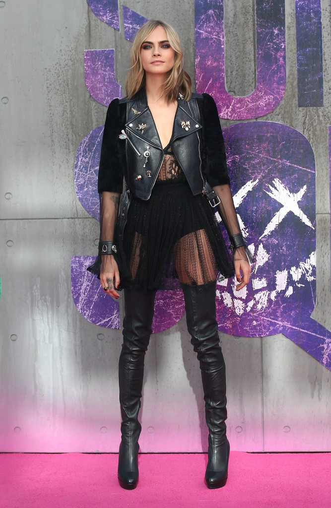 Cara Delevingne The Suicide Squad Stars Out Of Costume Zimbio