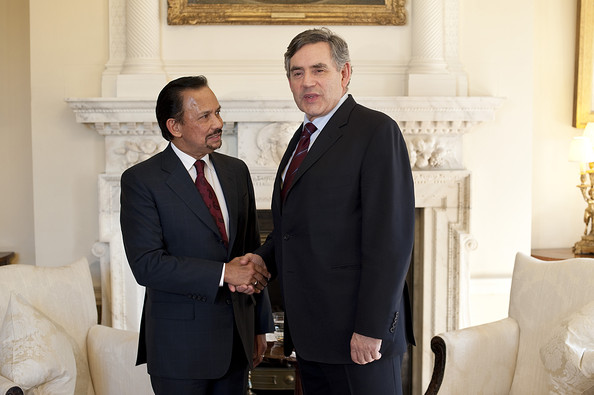 Sultan Of Brunei Joins Gordon Brown For Signing Of Gurkha Agreement