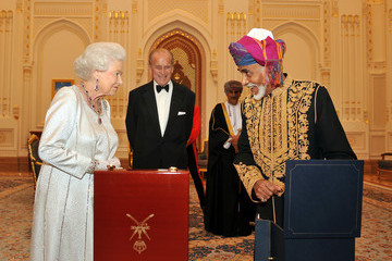 Sultan Qaboos bin Said Queen Elizabeth II And Prince Philip Visit Visit Oman - Day 1