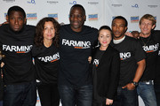 """(L-R)  David Harewood, Minne Driver, filmmaker Adewale Akinnuoye-Agbaje, Jamie Winstone, Ashley Walters and Leo Gregory  attend the """"Farming"""" screening during Sundance London at Cineworld 02 Arena on April 27, 2012 in London, England."""