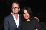 Actor Aden Young (L)and Sarah Barnett President/General Manager, SundanceTV attend the after party for SundanceTV's 'Rectify' Season Two at the Chateau Marmont on June 16, 2014 in Los Angeles, California.