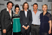 (L-R)  Actors Aden Young, Abigail Spencer, Creator/Writer/Executive Producer of 'Rectify' Ray McKinnon, Actors Clayne Crawford and Adelaide Clemens attend SundanceTV's presentation of Panel Discussions featuring creators and stars of 'Rectify' and 'The Honorable Woman' on May 16, 2015 in Los Angeles, California.