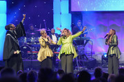 (L-R) Snoop Dogg performs with Jacky Clark-Chisholm, Dorinda Clark-Cole and Karen Clark Sheard of The Clark Sisters onstage during BET Presents 19th Annual Super Bowl Gospel Celebration at Bethel University on February 1, 2018 in St Paul, Minnesota.