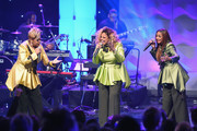 (L-R) Jacky Clark-Chisholm, Dorinda Clark-Cole and Karen Clark Sheard of The Clark Sisters perform onstage during BET Presents 19th Annual Super Bowl Gospel Celebration at Bethel University on February 1, 2018 in St Paul, Minnesota.