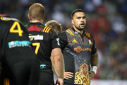 Liam Messam of the Chiefs looks dejected after a Crusaders try during the round 13 Super Rugby match between the Chiefs and the Crusaders at ANZ Stadium on May 19, 2017 in Suva, Fiji.