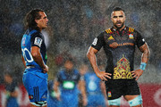 Kara Pryor of the Blues and Liam Messam of the Chiefs look on after the match ended in a draw during the round 14 Super Rugby match between the Blues and the Chiefs and Eden Park on May 26, 2017 in Auckland, New Zealand.