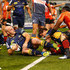Stephen Moore Photos - Stephen Moore of the Brumbies scores a try during the round 14 Super Rugby match between the Brumbies and the Sunwolves at GIO Stadium on May 28, 2016 in Canberra, Australia. - Super Rugby Rd 14 - Brumbies v Sunwolves