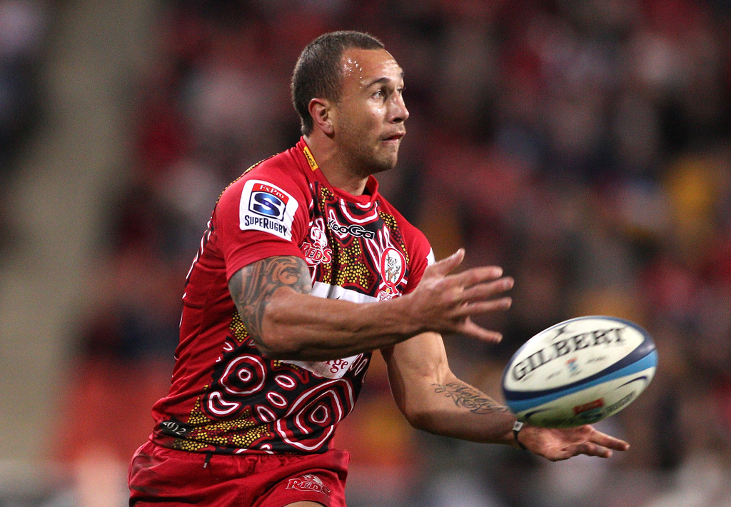 Quade Cooper Photos Photos - Super Rugby Rd 17 - Reds v ...
