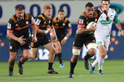 Liam Messam of the Chiefs makes a run during the round two Super Rugby match between the Blues and the Chiefs at Eden Park on March 2, 2018 in Auckland, New Zealand.