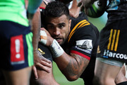 Chiefs Liam Messam packs down in the scrum during the round seven Super Rugby match between the Chiefs and the Highlanders at FMG Stadium on March 30, 2018 in Hamilton, New Zealand.