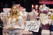 """Supermodel Romee Strijd poses for a photo at Victoria's Secret as they celebrate the all new """"Body By Victoria"""" collection on August 14, 2018 in Dallas, Texas."""
